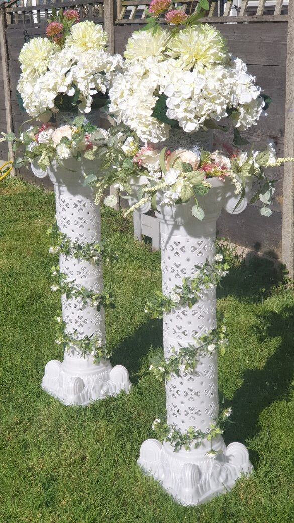 Flowered Pillars and Arches